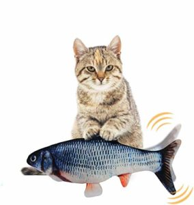EKKONG Cataire Jouets Poisson, Cataire Chat Jouets, Chat Jouet en Peluche, Simulation Poissons en Peluche, Jouet interactif pour Chat pour Kitty Chaton (Type D)