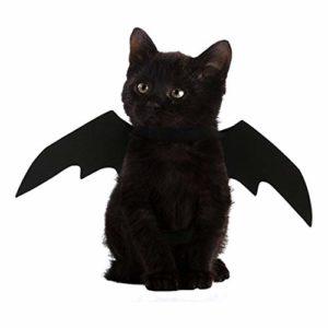 FineInno Halloween Chauve-Souris Costumes Bat Wings Animaux domestiques Pet Deguisement Vêtements Chat Cosplay Costume pour Noël, Pâques Décoration