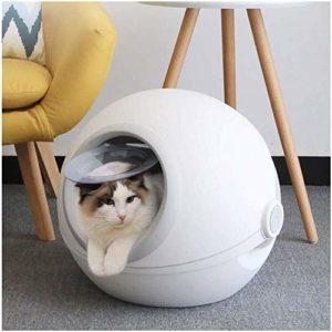 F&Z-Bac à litière chat Entièrement fermé Litière de toilette for chat bac à litière Agrandir l'espace Races de chat ou multi-ménages Cat Nest Bed Cat Maison Pet Seasons Universal for 12 kg animal Liti
