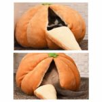 KIOPS Citrouille Lit de Chat de Caverne | Panier et Coussin pour Chiens ou Chats de Petite Race | Lit de Chien Clos Confortable | Lavable en Machine | Halloween