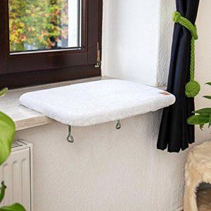 Pfotenolymp® perchoir de fenêtre premium/planche de couchage pour chats – Lit de fenêtre/Lit de chat pour rebord de fenêtre – Canapé/ Coin repos pour chats