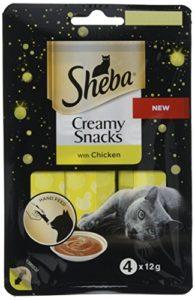 Sheba Creamy Snacks Friandises pour chat 20 x ( 4x12g )