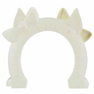 Vaorwne Porte pour animal de compagnie pour chat 2 voies en forme de trou pour porte en verre creux massif pour chat jusqu'à 21 kg, litière au sous-sol, buanderie facile à installer
