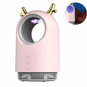 ZHANGLE Répulsif Anti-moustiques, avec USB + Prise Anti-Moustique Domestique, Lampe Anti-Moustique nettoyable sans Bruit pour cafards, moustiques, Souris,Rose
