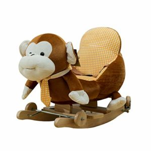 Zxllyntop Cadeau de Jouet d'apprentissage de Robot bébé Singe de bébé Cheval à Bascule en Peluche Cheval Enfants en Peluche interactif Permanent Ride-Cheval Jouet Cheval Jeux de rôles