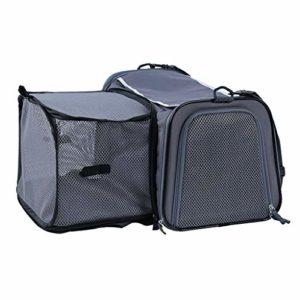 Zylxnt Pet Bag Cat Bag Out Portable Respirant Grand Chien Voiture Pet Bag (Color : Gray, Size : M)
