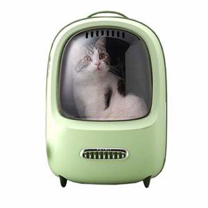 Zylxnt Pet Bag Out Portable Space Capsule Portable Cat Cage Shoulder Pet Backpack (Color : Green)