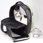 Zylxnt Pet Bag Out Portable Space Capsule Portable Cat Cage Shoulder Pet Backpack (Color : White)