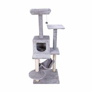 Cat Tower deux gros chat multi-tête grand intérieur maison indépendante hamac tunnel de maison chat à trois étages stationnaire sans l'aire de l'odeur étape de durabilité robuste a une stabilité anti-