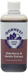 Dorwest Herbs – Extrait de baies de sureau et orties pour chien et chat – 250 ml
