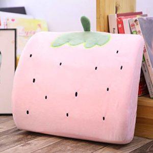 Gxiang Mignon Bureau Mousse mémoire Cartoon Taille Oreiller Taille Coussin Peluche Oreiller Peut également être utilisé for la Voiture Taille Oreiller Cadeau (Color : Pink)