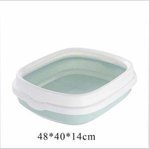 HZHHH Set de Toilette pour Chat, avec Scoop Bedpan excrément de Formation bac à litière de Sable Anti-Splash Dog Litière Toilettes Box Toilettes pour Animaux Grand Espace,C,S