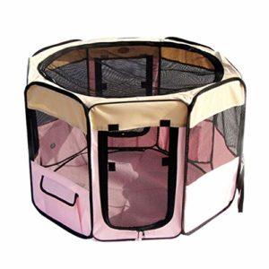 MZP Pet Parc Enclos De Chien Pet House Pet Tente Cage De Jeu Pliante Et Portable pour Animal Domestique, Chien – pour Intérieur Et Extérieur (Color : Pink, Size : XL 155 x 61Hcm)