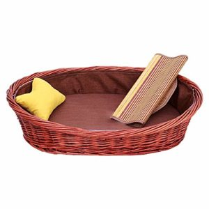 N/A Chien Nest en rotin Lit for Chat for Petits Animaux Petit Jaune Pillow Cool Summer Facile à Nettoyer Respirabilité Lavable Solide avec Coussin Cool et Coton Pad (Size : XXL)
