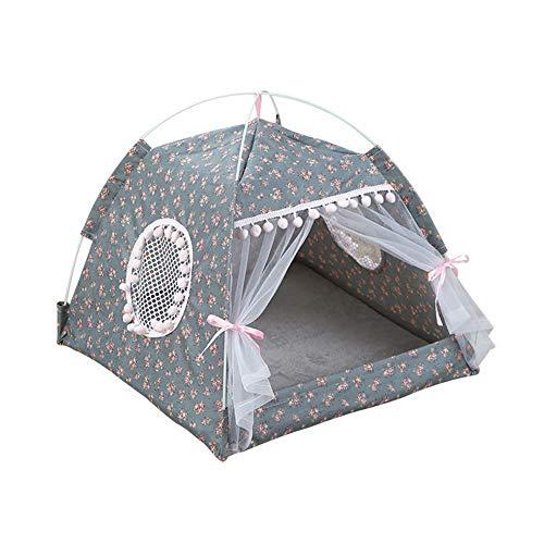 NA Gel Nail Summer Chien Tente Respirant Pet Lits Chiot Chien Maison pour Petits Chiens Confortable Amovible Petit Chien lit Cave,A,S