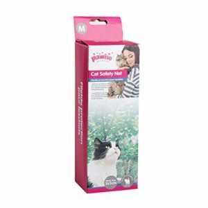 Pawise – Filet de protection pour chats, balcon Transparent