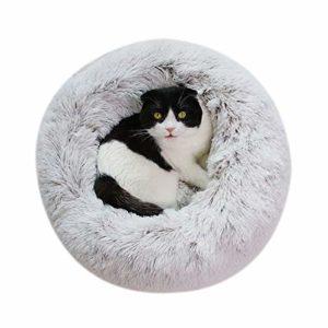 Vivi Bear Coussin pour Chien Coussin pour Chat Extra-Doux Confortable et Mignon,Coussin pour lit de Chat Lavable,Convient aux Chats et aux Petits Chiens de Taille Moyenne(70cm de diamètre)