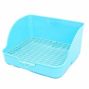 XYBB Litiere Chat Bac pour Chats Pet Toilet Square Potty Trainer Corner Litter Pet Pan 28x23x15cm Bleu