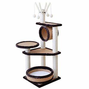 YSYW Poteaux à Gratter Recouverts De Sisal Coussin Rembourré pour Perche Meubles Playhouse Cat Tower Surface en Feutre,B