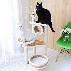 YSYW Poteaux à Gratter Recouverts De Sisal Coussin Rembourré pour Perche Meubles Playhouse Cat Tower Surface en Feutre,C