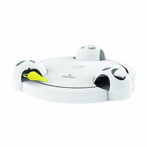 ACAMPTAR Jouet De Chat De Rebond, Jouet Automatique Interactif électronique Réglable Fonctionnant sur Batterie Jouet