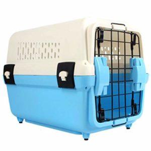 BY Cage de Transport pour Animal Domestique, Ventilation de sécurité, Anti-dérapant, Stable, Confortable, Convient pour Animal de Compagnie, Portable Simple, Bleu et Rose