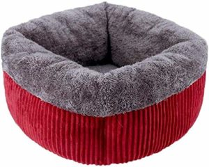 Chat Chien Lit for animal de compagnie chat nid animal de compagnie panier sac de couchage maison de chat antidérapante confortable disponible en quatre saisons (couleur: rouge taille: 52x52cm) -52×52