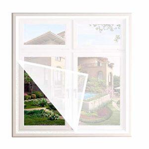 Duchen Filet universel pour fenêtre de protection contre les chats, maille de sécurité pour chat avec ruban adhésif, moustiquaire pour fenêtre, taille de fenêtre