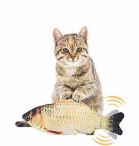 EKKONG Cataire Jouets Poisson, Cataire Chat Jouets, Chat Jouet en Peluche, Simulation Poissons en Peluche, Jouet interactif pour Chat pour Kitty Chaton (Type A)