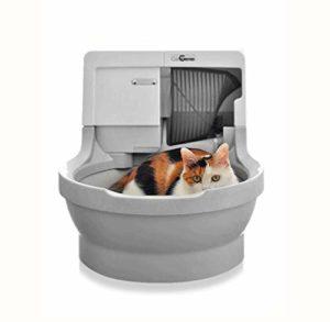 GBY Bac à litière électrique, bac à litière Intelligent pour Toilettes électriques, déodorant pour pelles électriques Semi-fermées, bac à litière Semi-fermé Grand Anti-éclaboussures