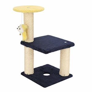 GCSEY Conseil d'escalade Cat 3 Couches Arbre Scratching Post Et Hanging Toy Home Pet Activity Center