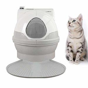gengxinxin Nettoyage Facile Toilette pour Chat Cat Ensemble De Formation À La Toilette pour Chat Entièrement Inclus Désodorisation Automatique + Bac À Sable pour Chat À L'épreuve des Éclaboussures