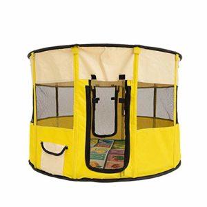 Gychee Parcs d'Extérieur pour Chiot Chat Kennel Oxford Tissu Multifonctionnel House pour Dormir, Élevage, Salle d'Accouchement