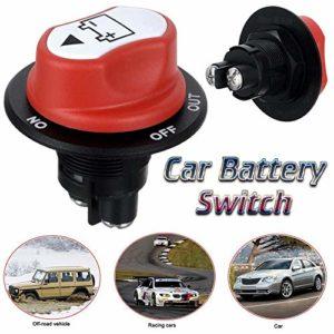 katiway Coupe Circuit Batterie, 12-48V 200A Coupure de Courant de Batterie Interrupteur Principal de déconnexion d'isolant pour véhicule de Camping-Car et Bateau (Marche/Arrêt)