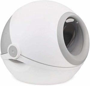 KJRJCW Litière Bowl Pleine Clapet fermé Big Splash Déodorant Et Cat Cat Design des Ballons Elf Roman Confidentialité Espace de sécurité Peut être divisé en Rose et Gris (Color : Gray)