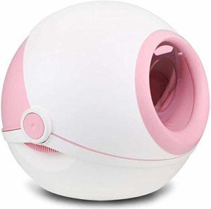 KJRJCW Litière Bowl Pleine Clapet fermé Big Splash Déodorant Et Cat Cat Design des Ballons Elf Roman Confidentialité Espace de sécurité Peut être divisé en Rose et Gris (Color : Pink)