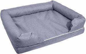 KLMNV;KLBVB Lit pour Animaux de Compagnie Pet Supplies Pet Nest Gris Animal Canapé-lit Mémoire Cotton Pet Nest Grand Kennel Dog Bed