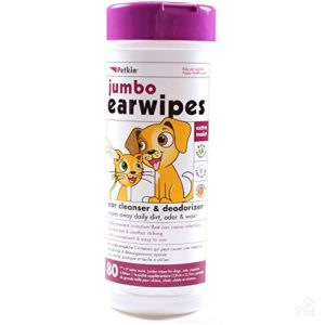 Petkin Jumbo Ear Wipes for Cats & Dogs