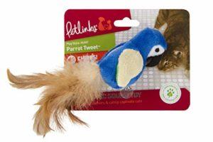 Petlinks Parrot Tweet Tactile activé Jouet pour Chat
