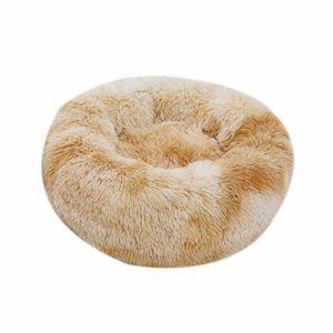 Vivi Bear Coussin pour Chien Coussin pour Chat Extra-Doux Confortable et Mignon,Coussin pour lit de Chat Lavable,Convient aux Chats et aux Petits Chiens de Taille Moyenne(50cm de diamètre)