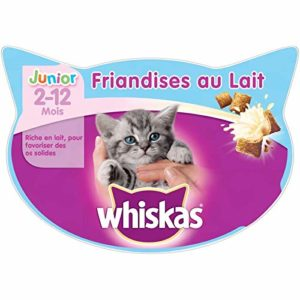 Animalerie Whiskas – Friandises Au Lait Junior 55G – Lot De 4 – Vendu par Lot – Livraison Gratuite en France