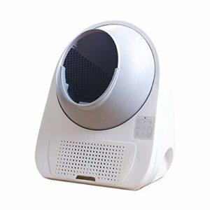 DRGRG bac à litière Automatique pour Chat Voice Smart Litter Box bac à Sable pour Chat Intelligent Toilette pour Chat entièrement Automatique Accessoires pour Animaux de Compagnie entièrement fermés