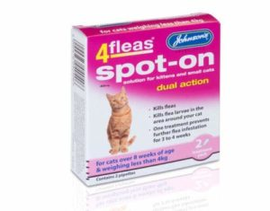 Johnson Chat de chaton 4 puces double action Solution Spot-On Tue les puces Dead