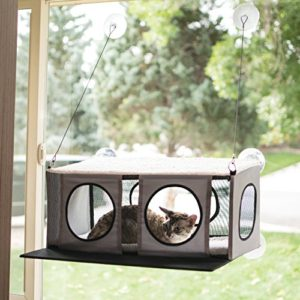 K & H EZ Easy Window Mount Penthouse Couchette à Monter sur Fenêtre pour Chat