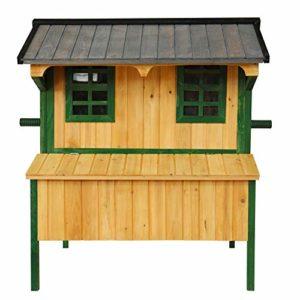 Lits pour Animaux Poulet en Bois Coop Pet Cage avec Nichoir Et Poulet fenêtre Respirante Hutch Petit Animal House for extérieur Run-anmy (Color : Brown)