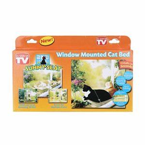 LJQLXJ Chat hamac Cute Pet Hanging Beds Cat Sunny Seat Window Mount Pet Cat Hammock Comfortable Cat Pet Bed EVA Soft Pet Bed,Original Box