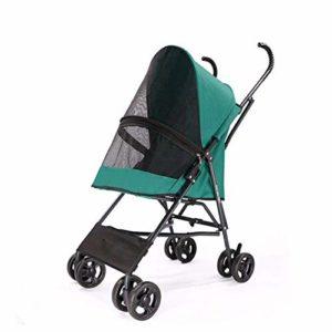 None Cage de transport pliable à 4 roues et doublure amovible pour petit chien, chat, C