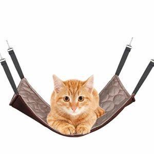 PET SPPTIES Hamac pour Chat Furet Rat Lapin Petit Chien ou Tout Autre Petit Animal de Compagnie Chaton Cage PS037 (M:35 * 35cm, Cooling Style,Coffee)