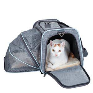 Petsfit Cage de Transport Extensible et Pliable pour Animaux de Compagnie avec Côtés Souples (Grand : 47cm x 30cm x 30cm)