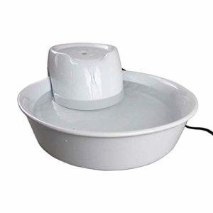 Smart Automatic Silent Pet distributeur d'eau filtre de circulation fontaine en céramique distributeur d'eau chat chien universel 3,8 litres Live Spring Drinker (Couleur: Noir, Taille: Taille unique)